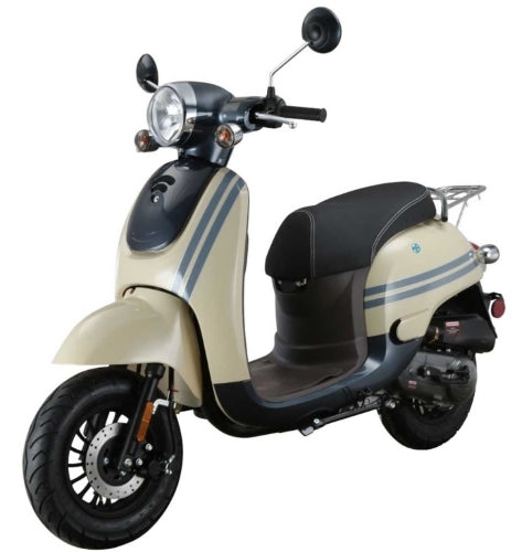 Znen 50cc 4 Stroke Gas Moped Scooter With USB Adapter & Alarm - Citi-50