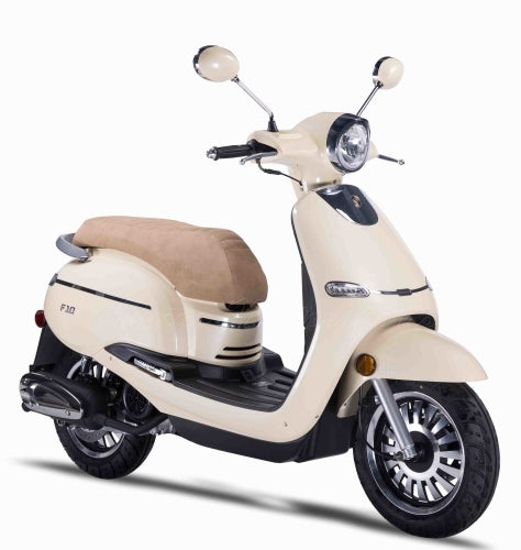 Znen 150cc 4 Stroke 8.5hp Gas Moped Scooter With Alarm & USB Adapter - F10-150cc