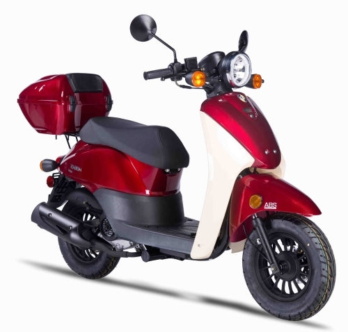 Znen 50cc 4 Stroke Gas Moped Scooter With Alarm & USB Adapter - PSC-50
