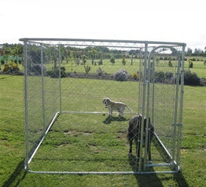 Dog Kennel 13' x 7 1/2' x 6' Chain Link Box Kennel Dog / Pet System