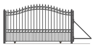 Brand New London Style Slide Steel Driveway Gate 18' X 6 1/4'