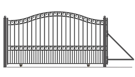 Brand New Paris Style Slide Steel Driveway Gate 12' X 6 1/4'