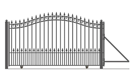 Brand New Prague Style Slide Steel Driveway Gate 18' X 6 1/4'