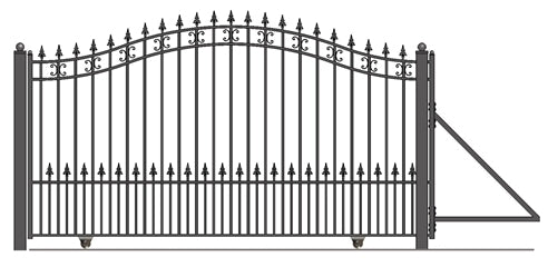 Brand New St Petersburg Style Slide Steel Driveway Gate 18' X 6 1/4'
