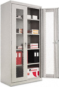 High Quality Assembled Storage Cabinet With Steel Mesh Doors 36w x 18d x 72h