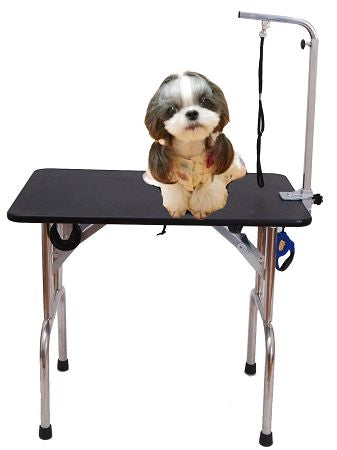 High Quality Professional Portable Folding Pet Dog Cat Grooming Table W/ Wheels