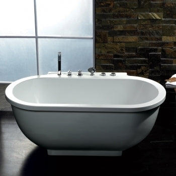 Freestanding Bathtub Ariel Platinum Whirlpool Bath Tub - AM128JDCLZ 71