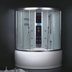 "Ariel Platinum White Steam Shower 53.1"" x 53.1"" x 87.4"" - DA325F3"