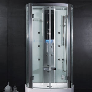 "Ariel Platinum Steam Shower 47.2"" x 33.5"" x 88.6"" - DZ943F3"