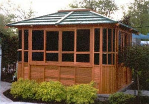 New York Hot Tub Enclosure Gazebo - 12' x 12'