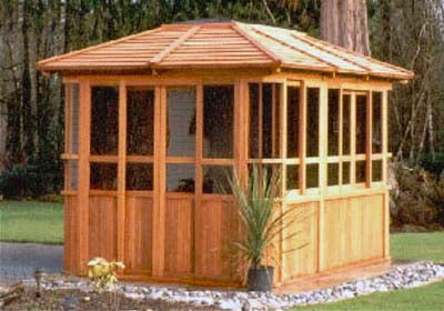 New York Hot Tub Enclosure Gazebo - 9' x 12'