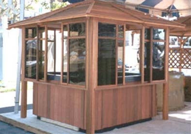 Supreme Himalayan Hot Tub Gazebo - 7.6' x 7.6'