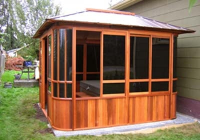 Brand New Forest View Hot Tub Enclosure Gazebo - 10' x 10'