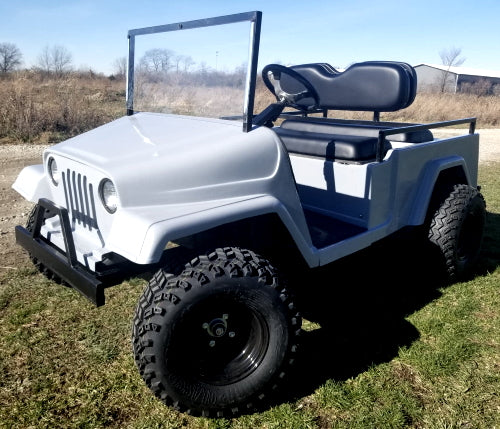 Four Seater Gas Golf Cart Full Size Jeep Go Kart - Americana Edition Fully Loaded