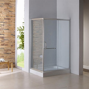 Zen Nifty & New Simplicity Square Glass Shower Enclosure w/ Base