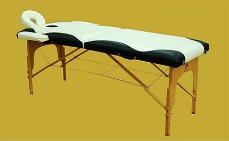 Black/White Portable Massage Table Bed