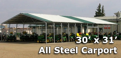 30' x 31' Steel Metal Carport - Installation Included