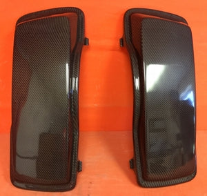 Harley Saddlebag Carbon Fiber Regular Lids Fits Harley Touring Streched / Extended