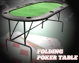 Brand New Foldable 8 Player Casino Texas Holdem Poker Table