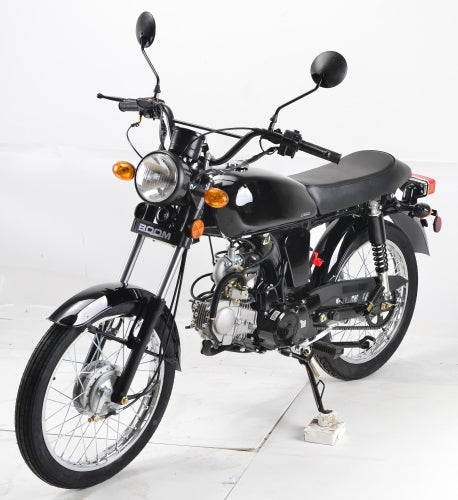 125cc Cafe Cruiser Racer Gas Bike Bicycle Style BoomCat Scooter Moped Motorcycle W/Manual Trans. - BD125-2