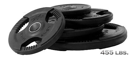 455 lb. Rubber Coated Olympic Weight Set