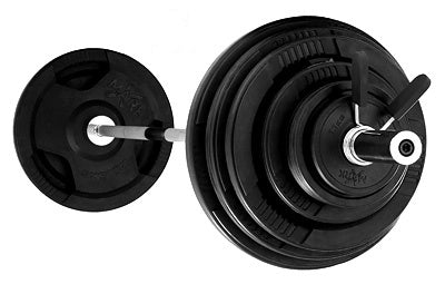 Premium Rubber Coated Olympic Weight Set with Olympic Bar