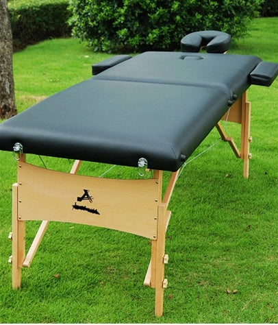 Black Portable Massage Table Bed