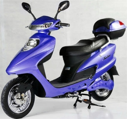 Blue 500 Watt Electric Scooter Moped