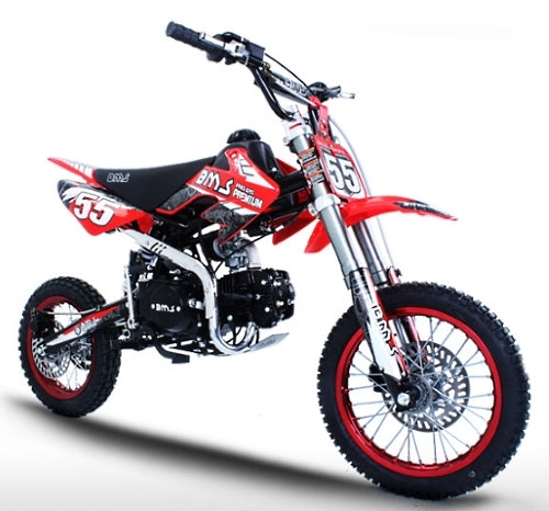 125cc Pit Bike 4 Speed Manual Racing Competition Pit Dirt Bike - BMS Pro Premium 125
