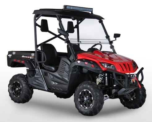2018 BMS 700cc UTV Monster Gas Golf Cart Ranch Pony EFI Utility Vehicle 700 - Fully Assembled w/Enclosure