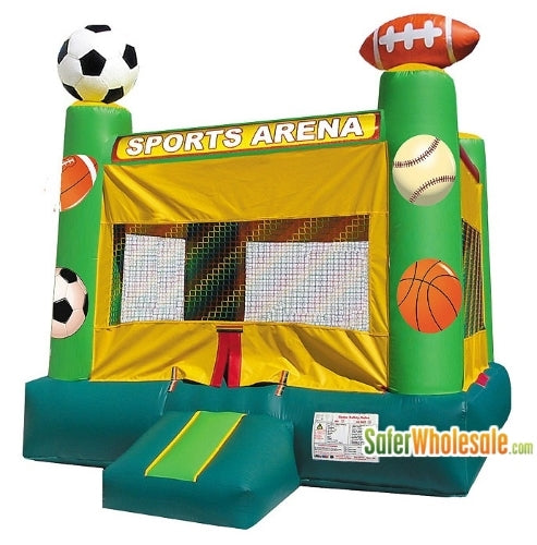 Commercial Grade 13' x 13' Inflatable Classic Sports Arena Bouncer Bouncy House