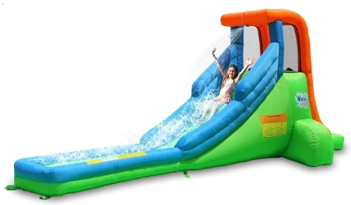 Classic Single Inflatable Water Slide Green
