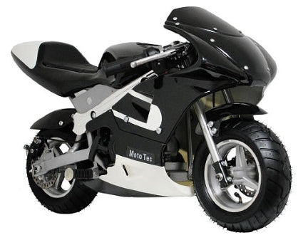 MotoTec 33cc 2-Stroke Gas Pocket Bike - Black - MT-GP_Black