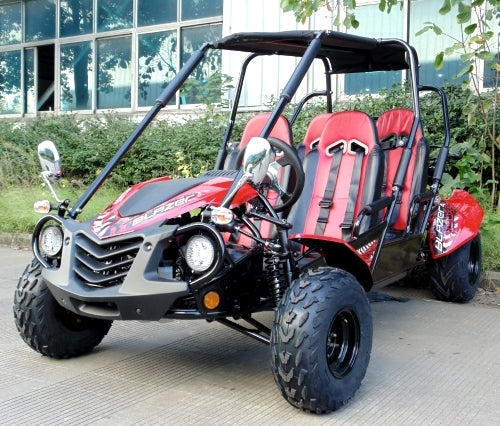 150cc Go Kart Full Size 4 Seater TrailMaster Blazer4 150X Go Kart Fully Automatic w/Reverse Electric Start & Kill Switch