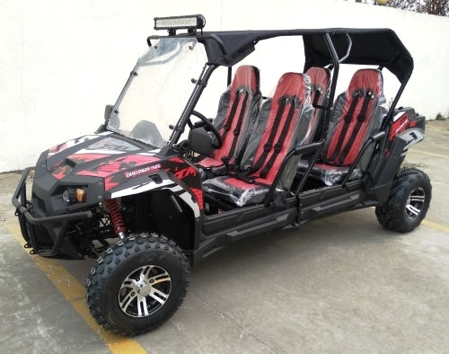 Gas Golf Cart Limo 4 Seater TrailMaster Challenger 4 150X UTV Utility Vehicle