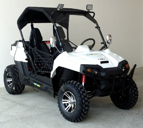 Brand New Gas Golf Cart UTV Hybrid 150cc Utility Vehicle Extended Challenger X Version W/Lights & Custom Rims/Tires