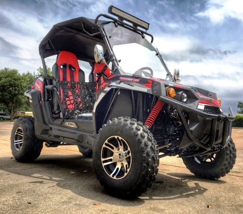 NEW 150X 150cc Golf Cart Trailmaster Challenger X UTV - Fully Loaded Edition With LED Light Bar & More