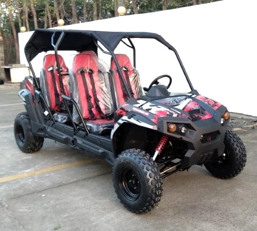4 Seater UTV Golf Cart Gas 150cc Adult Size Utility Vehicle TrailMaster Challenger
