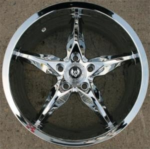 18 x 8.5 Inch Triple Plated Chrome Automotive Rims 18