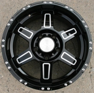 "18 Inch Glossed Black w/ Machined Automotive Rims 18"" Wheels - Set of 4"
