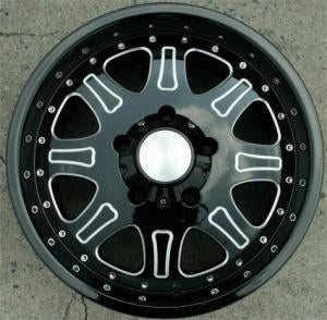 18 x 9.0 Inch Glossed Black w/ Machined Automotive Rims 18