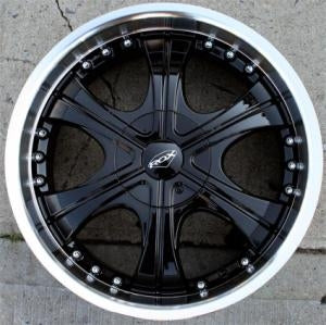 "20"" x 8.5"" Inch Gloss Black w/ Machined Lip Automotive Rims - Set of Four"