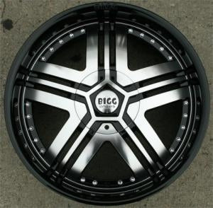 "20 x 8.5 Inch Gloss Black w/ Machined Face Automotive Rims - 20"" Wheels Set of Four"