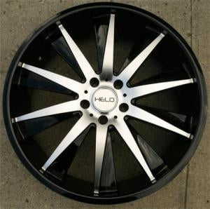 "20 x 8.5 Inch FWD Gloss Black w/ Machined Face Automotive Rims 20"" Wheels - Set of 4"