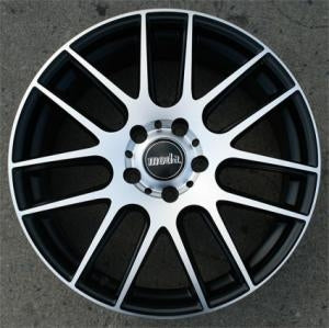 "18 Inch Black w/ Machined Face Rims 18"" Wheels - Set of 4"