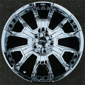 20 x 9.0 Inch 8 Lug Triple Plated Chrome Automotive Rims - 20