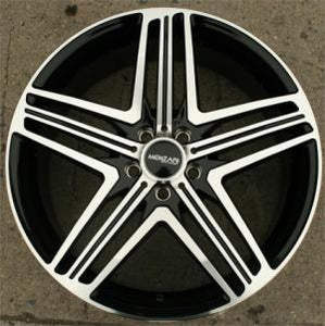 "20 x 8.5 Inch Black w/ Machined Face Automotive Rims 20"" Wheels Set of Four"