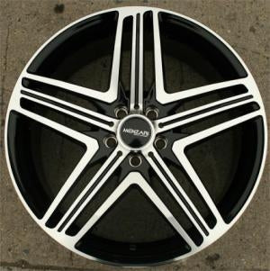20 x 8.5 Inch Black w/ Machined Face Automotive Rims 20