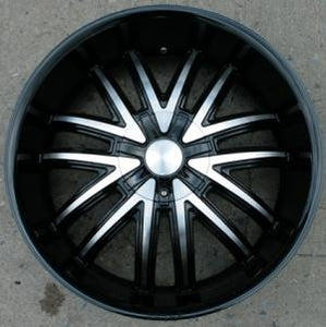 "22 x 8.5 - Glossy Black w/ Machined Face Automotive Rims 22"" Wheels - Set of Four"