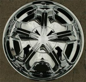 "20"" x 8.5"" Inch Triple Plated Chrome Automotive Mirror Rims - Set of Four"